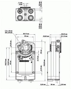 Электропривод с возвратной пружиной Gruner 361-024-10