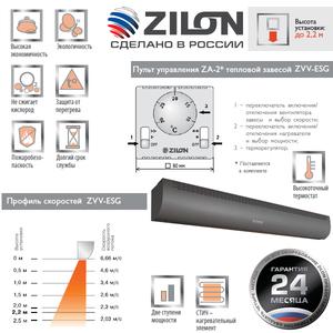 Электрическая тепловая завеса Zilon ZVV-1.0Е6SG серии ПРИВРАТНИК 2.0 ГРАФИТ