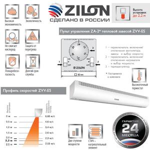 Электрическая тепловая завеса Zilon ZVV-1.5Е9S серии ПРИВРАТНИК 2.0