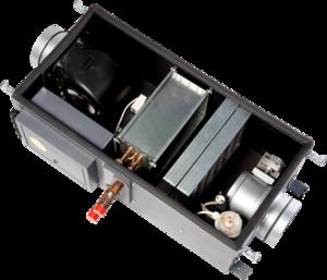 Приточная вентиляционная установка Minibox W 1050-1/24kW/G4 Zentec