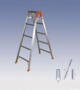 Лестница двухсекционная алюминиевая Кратон 2х9 ст.