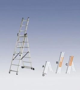 Лестница трехсекционная алюминиевая 3х10 ст.