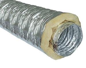 Гибкий теплоизолированный воздуховод с синтепоном ISO ZF 160мм х 10м