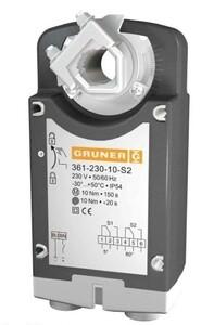 Электропривод с возвратной пружиной Gruner 361-230-10-S2