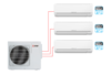 Мульти сплит-система MXZ-3HJ50VA ER1 на три комнаты 25,25,35м2