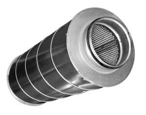 Шумоглушитель для круглых воздуховодов ZSA 100/900