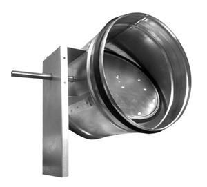 Воздушный клапан под электрический привод для круглых воздуховодов ZSK 160