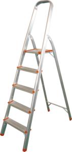 Лестница-стремянка алюминиевая Кратон 5 ст. 103 см, 3,8 кг