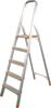 Стремянка стальная Кратон окрашенная с алюминиевыми ступенями,60см, 3,95 кг,3ст