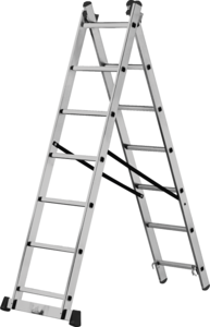 Лестница-стремянка Кратон 2-х секционная 224/364 см, 7,2 кг  2х8 ст.
