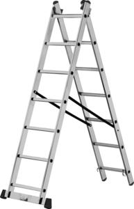 Лестница-стремянка Кратон 2-х секционная 252/420 см,  8 кг  2х9 ст.